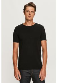 Hugo - T-shirt (2-pack). Okazja: na co dzień. Kolor: czarny. Materiał: dzianina. Wzór: gładki. Styl: casual