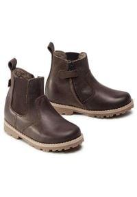 Brązowe buty zimowe Froddo z cholewką, z cholewką za kostkę