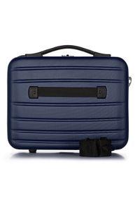 Wittchen - Kosmetyczka podróżna z ABS-u żłobiona. Kolor: niebieski