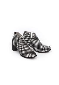 Czarne botki Zapato na wiosnę, na co dzień, z cholewką przed kostkę, biznesowe