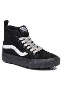 Vans - Sneakersy VANS - SK8-Hi Mte VN0A2XSNV3S1 (Mte) Glitter Sidewall/Blk. Wysokość cholewki: przed kolano. Kolor: czarny. Materiał: skóra ekologiczna, skóra, zamsz. Szerokość cholewki: normalna. Sezon: zima, lato
