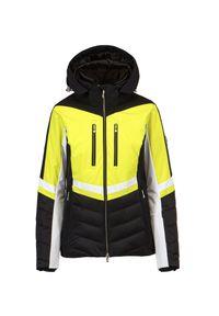 Descente - Kurtka narciarska DESCENTE HARPER. Kolor: żółty. Materiał: tkanina, puch, satyna, materiał. Technologia: Dermizax. Sport: narciarstwo