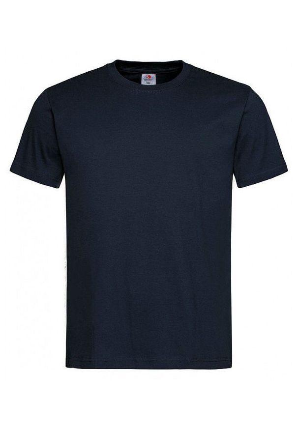 Niebieski t-shirt Stedman casualowy, na co dzień