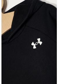 Czarna bluza Under Armour z kapturem, gładkie