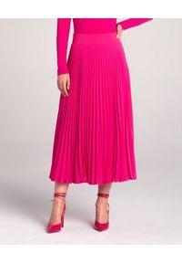 LA MANIA - Plisowana spódnica Lang w kolorze różowym. Kolor: wielokolorowy, różowy, fioletowy. Materiał: materiał #1