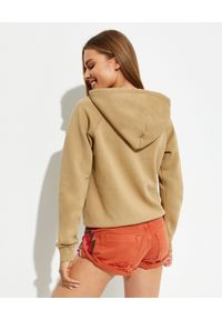 Ralph Lauren - RALPH LAUREN - Beżowa bluza z kapturem. Typ kołnierza: kaptur. Kolor: beżowy. Materiał: materiał. Długość rękawa: długi rękaw. Długość: długie