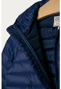 Niebieska kurtka Guess Jeans z kapturem, na co dzień