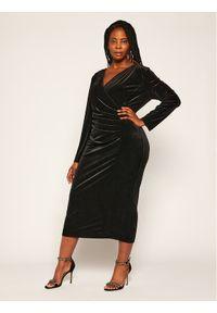 Czarna sukienka koktajlowa Persona by Marina Rinaldi wizytowa