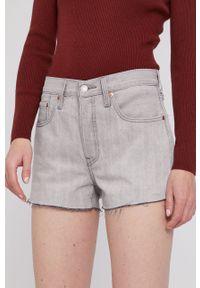Levi's® - Levi's - Szorty jeansowe. Okazja: na co dzień, na spotkanie biznesowe. Kolor: szary. Materiał: jeans. Wzór: gładki. Styl: biznesowy, casual