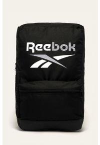 Reebok - Plecak. Kolor: czarny. Wzór: paski