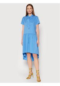 Rinascimento Sukienka codzienna CFC0103381003 Niebieski Regular Fit. Okazja: na co dzień. Kolor: niebieski. Typ sukienki: proste. Styl: casual