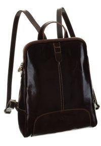 Plecak w stylu vintage brązowy Badura T_D193BR_CD. Kolor: brązowy. Materiał: skóra. Styl: vintage