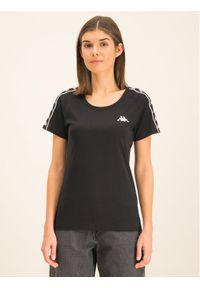 Kappa T-Shirt Fimra 306045 Czarny Regular Fit. Kolor: czarny