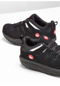 Czarne buty sportowe bonprix na platformie, na co dzień, na fitness i siłownię #5