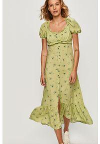 Zielona sukienka ANSWEAR na co dzień, prosta