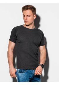 Czarny t-shirt Ombre Clothing klasyczny