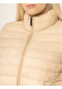 Beżowa kurtka puchowa Persona by Marina Rinaldi