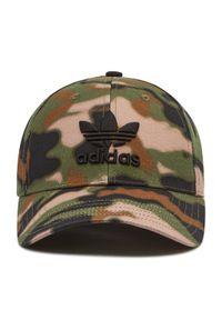 Adidas - Czapka z daszkiem adidas - Camo Bball Cap GN2286 Hemp/Black. Kolor: zielony. Materiał: materiał, bawełna. Styl: sportowy, klasyczny
