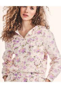 LOVE SHACK FANCY - Bluza z kapturem Kirby. Typ kołnierza: kaptur. Kolor: beżowy. Materiał: bawełna. Wzór: kwiaty
