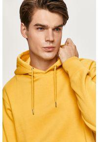 Żółta bluza nierozpinana Jack & Jones na co dzień, casualowa, z kapturem