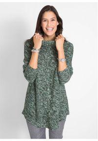 Zielony sweter bonprix z długim rękawem, długi