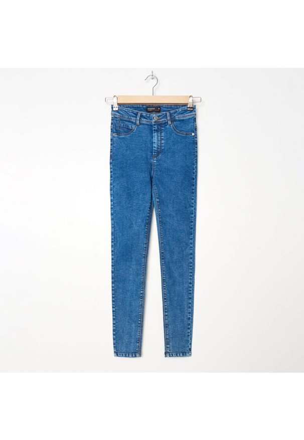 Turkusowe jeansy House z podwyższonym stanem