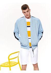 Niebieska bluza TOP SECRET na wiosnę, w paski
