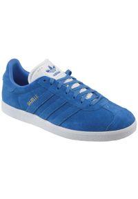 Niebieskie sneakersy Adidas Adidas Gazelle, z cholewką