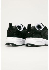 Czarne sneakersy Tommy Jeans z okrągłym noskiem, na sznurówki #4