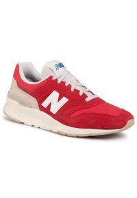 Czerwone buty sportowe New Balance na co dzień, z cholewką