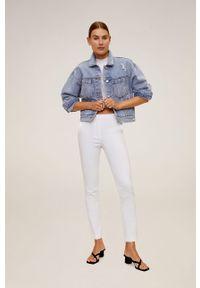 Białe spodnie materiałowe mango