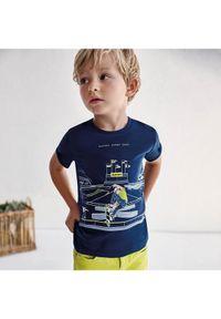 Mayoral T-Shirt 3040 Granatowy Regular Fit. Kolor: niebieski