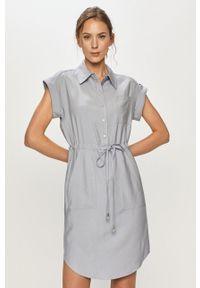 Niebieska sukienka Silvian Heach gładkie, casualowa