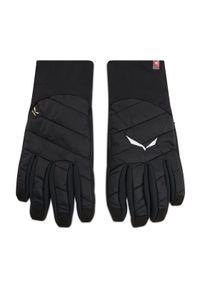 Czarne rękawiczki sportowe Salewa narciarskie