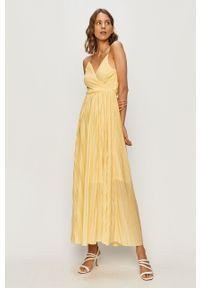 Żółta sukienka only na co dzień, maxi, casualowa, na ramiączkach