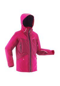 WEDZE - Kurtka narciarska 900 dla dzieci. Kolor: różowy, wielokolorowy, fioletowy. Materiał: materiał. Sport: narciarstwo