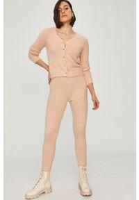 Różowe legginsy Answear Lab z podwyższonym stanem, gładkie, wakacyjne #4