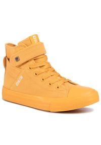Big-Star - Trampki BIG STAR - FF274581 Yellow. Okazja: na co dzień. Kolor: żółty. Materiał: materiał. Szerokość cholewki: normalna. Styl: casual