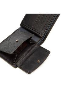 Wittchen - Męski portfel ze skóry z rozcięciem. Kolor: czarny, wielokolorowy, niebieski. Materiał: skóra. Wzór: kolorowy, aplikacja