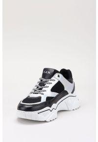 Czarne buty sportowe GOE z cholewką, z okrągłym noskiem