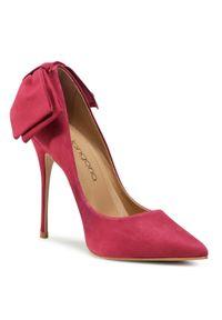 Różowe półbuty Eva Longoria na wysokim obcasie, eleganckie, na szpilce