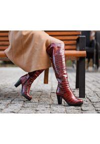 Kozaki Zapato z cholewką, z cholewką za kolano, wąskie, klasyczne