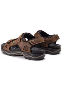 Brązowe sandały trekkingowe keen na lato, z aplikacjami