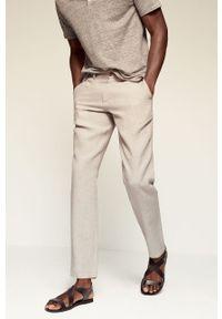 Mango Man - Spodnie OYSTER. Kolor: beżowy. Materiał: materiał