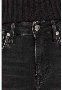 Czarne jeansy bootcut Pepe Jeans z podwyższonym stanem