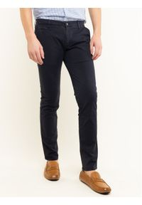 Baldessarini Spodnie materiałowe Jorgen 16838/000/2215 Granatowy Regular Fit. Kolor: niebieski. Materiał: elastan, materiał, bawełna