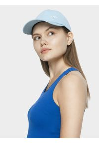 Niebieska czapka z daszkiem 4f