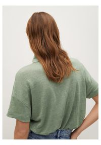 Zielona koszulka polo mango polo