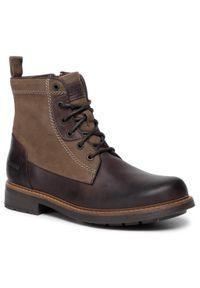 Brązowe buty zimowe Lasocki z cholewką, klasyczne