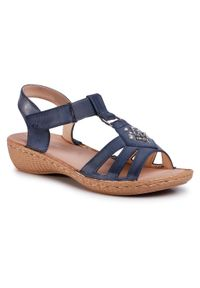 Niebieskie sandały Clara Barson z aplikacjami, casualowe, na co dzień